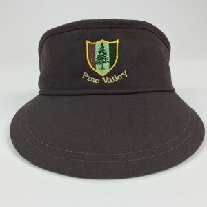 Pine Valley Golf New Era Dupont Visor Vintage OSFA
